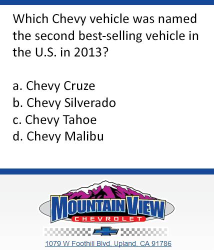 Mountain View Chevy Trivia